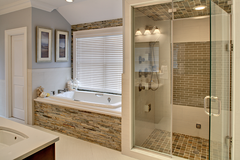 Custom bath remodeling bath designer summit nj and morris county nj kitchen bath Bathroom remodel ideas with stand up shower