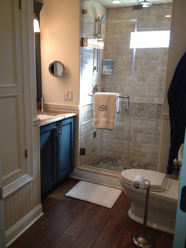 Custom bath remodeling bath designer summit nj and for Stand up shower ideas